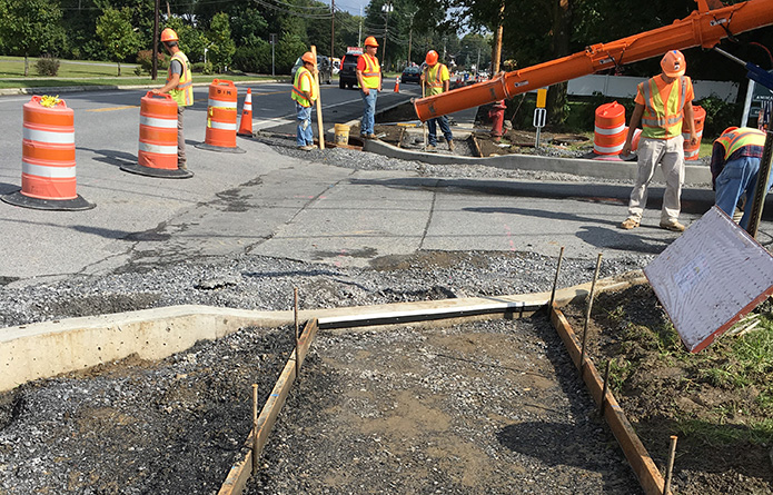 Route 9 Pedestrian Improvements